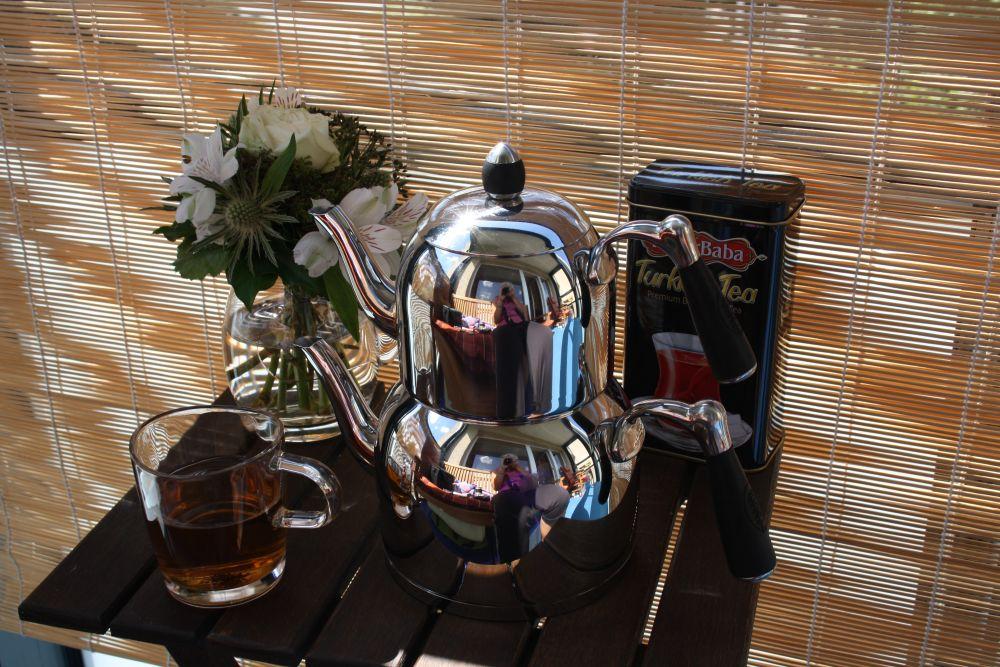 Türkischer Tee auf meinem Balkon - Hochgenuss, Freude und wunderschöne Erinnerungen an eine ganz besondere Reise!
